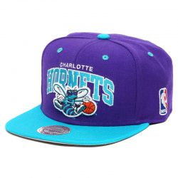 Mitchell & Ness Team Arch NBA Charlotte Hornets Snapback Cap Kasket - Nordic Basketball
