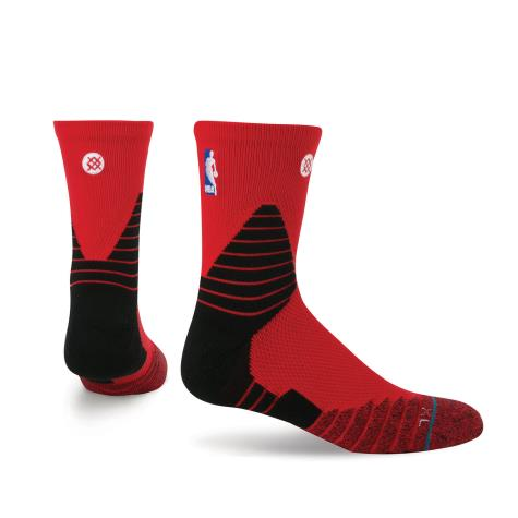 NBA Oncourt Solid QTR - Red - Stance - Nordic Basketball