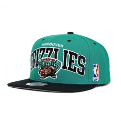 Mitchell & Ness Team Arch NBA Vancouver Grizzlies Snapback Cap Kasket - Nordic Basketball