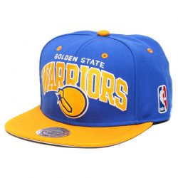 Mitchell & Ness Team Arch NBA Golden State Warriors Snapback Cap Kasket - Nordic Basketball