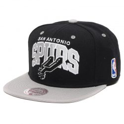 Mitchell & Ness Team Arch NBA San Antonio Spurs Snapback Cap Kasket - Nordic Basketball