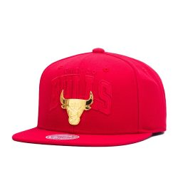 Mitchell & Ness NBA Chicago Bulls Lux Arch Snapback Cap / Kasket - Nordic Basketball