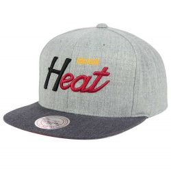 Mitchell & Ness NBA Miami Heat Tri Pop Snapback Cap/Kasket - Nordic Basketball