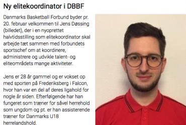 Jens Døssing - Ny elitekoordinator DBBF